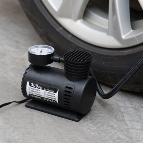 Car Mini Electric Inflation Pump Portable Tyre Air Inflator 300PSI