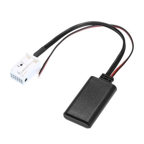 AUX Adaptador de cable de audio Conector de 12 pines Radio BT MP3 Ajuste para VW RCD210 RCD300 RCD310 RNS300 RNS310 MFD2