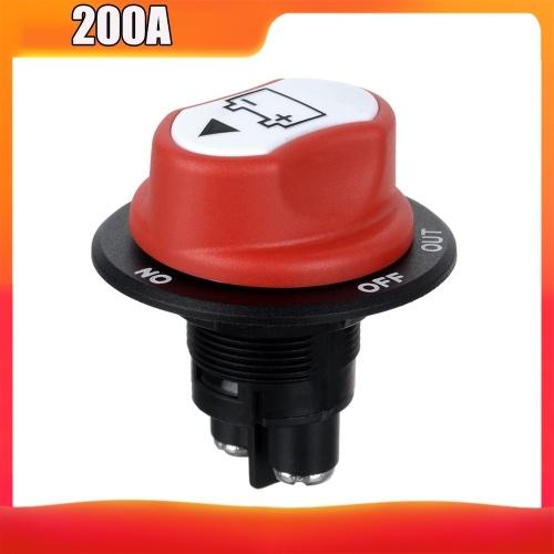 Выключатель автомобильного аккумулятора 200A Выключатель аккумулятора, отключите главный изолятор для автомобиля и лодки