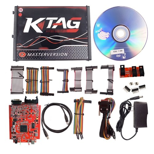 KTAG V7.020 ECU Programming Tool Unlimited Token Car Diagnostic Tool with Red PCB
