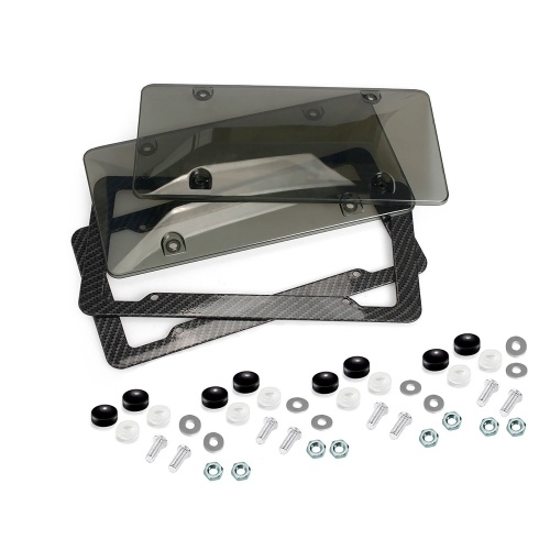 Número de matrícula automática Kit de protector de coche Tornillo de marco de cubierta de acrílico teñido transparente