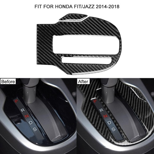 Car Gear Panel Inner-frame Stickers Shift Knob Trim Fit for Honda Fit/Jazz 2014-2018 Vehicle Protective Accessories
