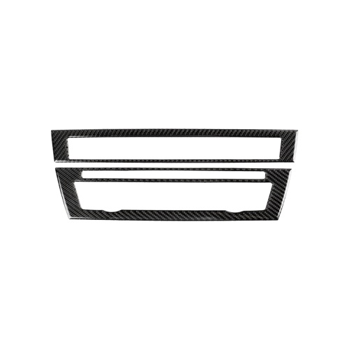 Крышка панели управления CD-плеера из углеродного волокна для BMW F10 5 серии 2011-2017 BMW Декоративные наклейки