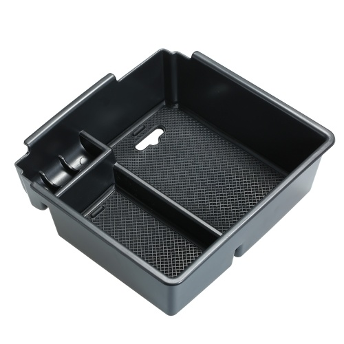 Reposabrazos central del coche Caja de almacenamiento Consola Organizador Reposabrazos Soporte de bandeja Reemplazo para Ford Ranger 2012-2018