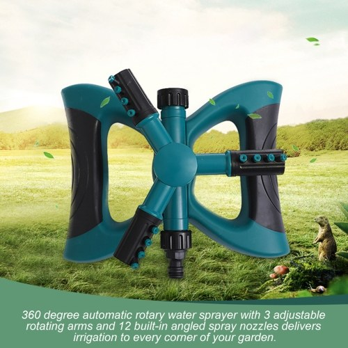 Lawn Sprinkler, Water Sprinklers for Garden Lawn Yard, Automatic 360 Degree Rotating Sprinkler Irrigation Sprayer, Adjustable Spraying Angle and Distance, Gardening Tool