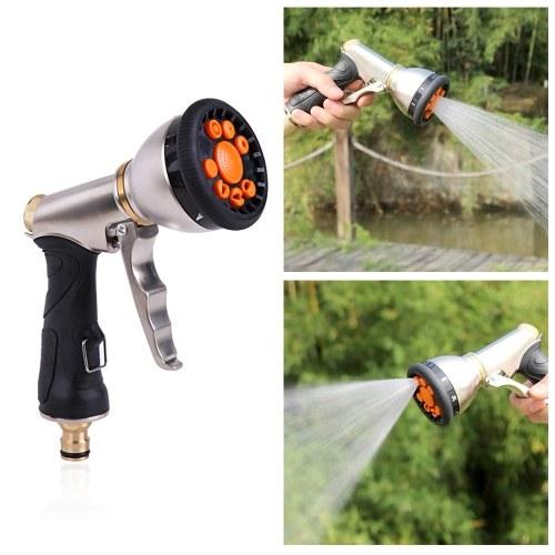 Водораспылитель Пистолетная рукоятка высокого давления Водяной пистолет 9 регулируемых моделей для ручного полива садовых растений и газонов, автомобилей и домашних животных