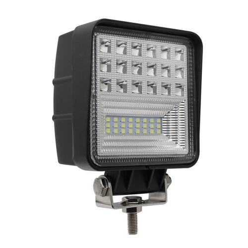 400W 6000K 4 LED Work Light Bar Flood Spot Beam Offroad Car Truck Daylight Refitting Lamp Cross-country For SUV Driving Fog Bulb