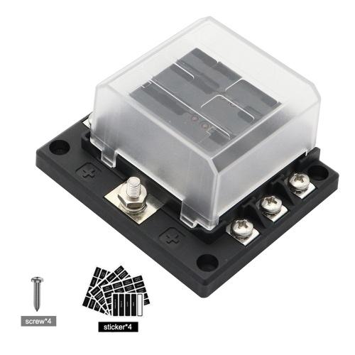 Блок предохранителей с 6-контактным лезвием Блок предохранителей Новый 6-контурный ATP / ATC / ATO со светодиодным индикатором Регулируемая крышка с поворотом на 180 градусов