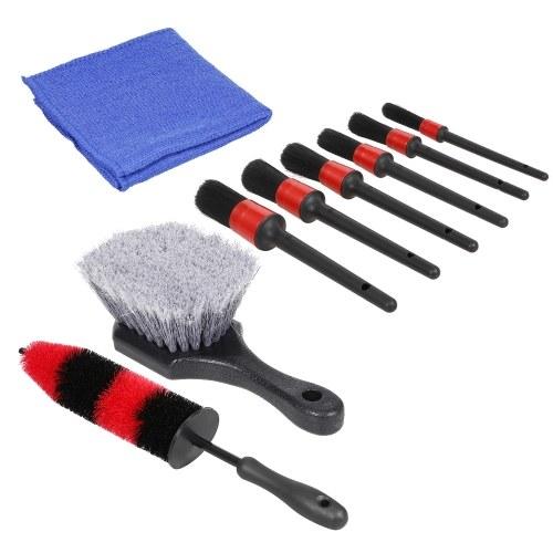 8Pcs Набор инструментов для чистки автомобилей Набор инструментов для мойки автомобилей