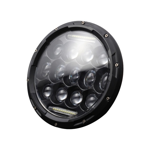1pcs 7 Inch Round Shaped LED Front Headlight Replacement For Jeep Wrangler JK LJ TJ CJ