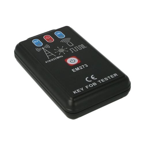 Автомобильный ИК инфракрасный дистанционный тестер радиочастотный брелок тестер 418/433 МГц цифровой датчик частоты EM273