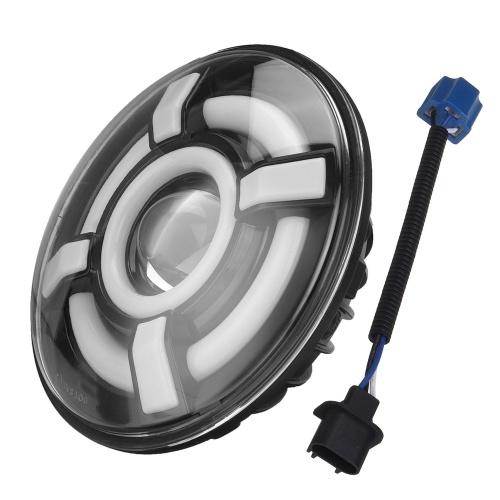 1 STÜCK 7 Zoll runder LED-Projektorscheinwerfer Superheller Scheinwerferersatz für Jeep Wrangler JK JKU CJ LJ TJ Hummer H1 H2