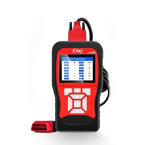 JDiag-JD908B универсальный сканер OBDII / EOBD автомобильный диагностический инструмент автомобильный двигатель считыватель неисправностей стирание / сброс кодов считыватель инструмент тестер батареи