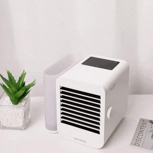 Microhoo 1000ML Aire acondicionado 99 velocidades Pantalla táctil Tipo-C Humidificador de ventilador de enfriamiento