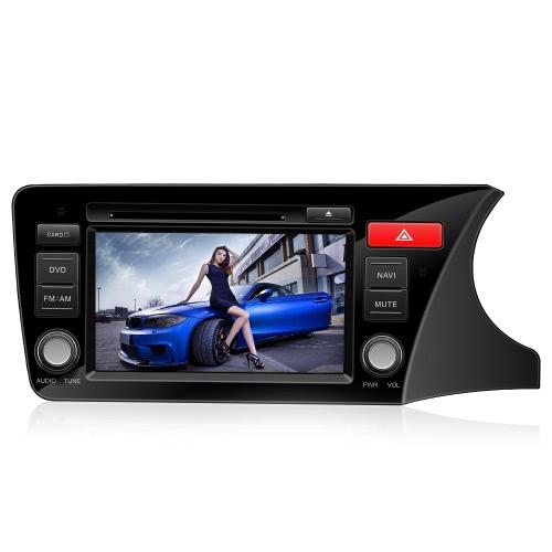 8 «CASKA HD цифровой сенсорный экран автомобиль DVD-плеер в тире системы GPS навигация BT радио мультимедиа для Honda City 2014