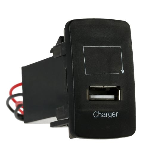 12V 2.1A USB Port Socket with Digital Voltage Display Cellphone Charger Car Modification Parts for Honda