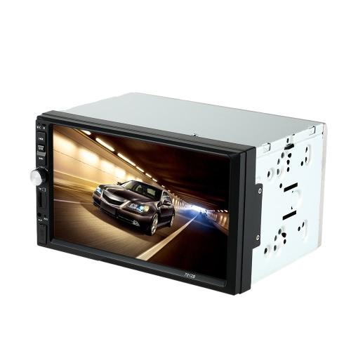 "7 ""Universal 2 Din HD Car Radio Reproductor MP5 Bluetooth Radio Entretenimiento Multimedia USB / TF In-Dash FM Entrada auxiliar"