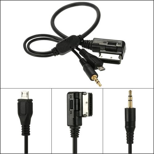 Mini-jack de 3,5 mm Aux MP3 Cable USB adaptateur musique AMI MMI Interface pour Audi A3 A4 A5 A6 TT pour VW Jetta GTI GLI Passat CC Touareg