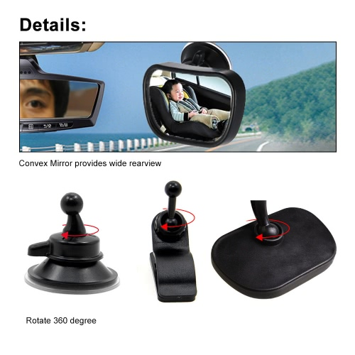 Tomtop coupon: Tirol T22614 Mini Car Baby View Mirror 2 in 1 Car Rear Baby Safety Convex Mirror Adjustable