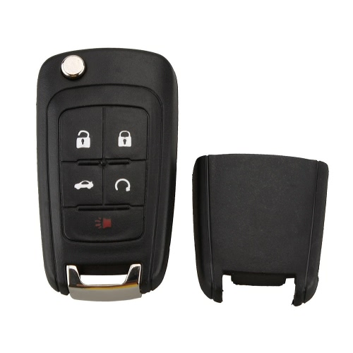 5 Buttons Flip Folding Key Shell Case Entry Remote Key Protection Cover for Buick Verano LaCrosse Regal