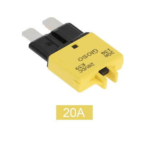 IZTOSS réarmement manuel Disjoncteur Fusibles avec le bouton 20A pour Camion Auto Moto