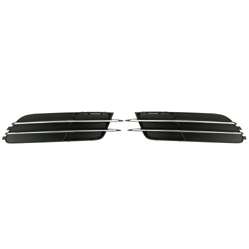 One Pair of Car Lower Bumper Grilles Grille for Audi A6 C7 2012-2014