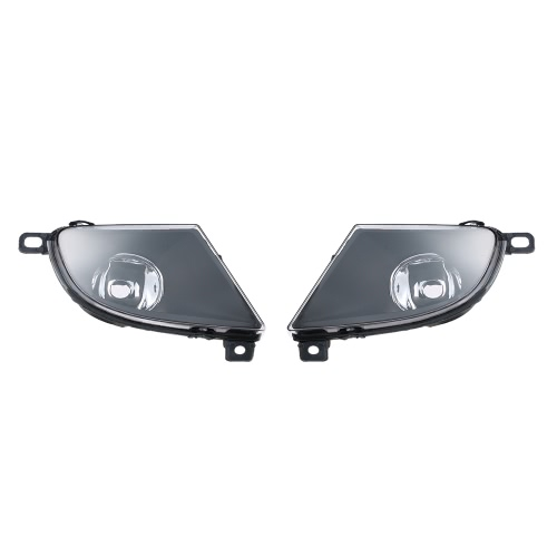 1 Pair Left & Right Front Fog Light Lampshade Bulb Cover Set for BMW 5 SERIES E60 2008-2015