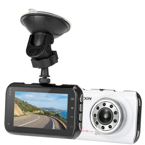 KKmoon 1080P Full HD 3.0 inch Car DVR Camera Video Recorder Vehicle Camcorder Night Vision