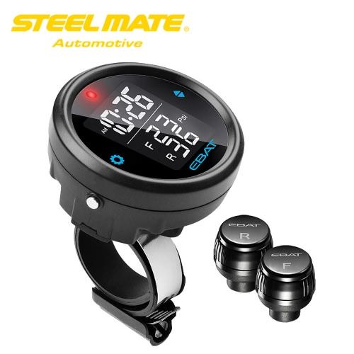 Steelmate EBAT ET-910AE 2-sensor Wireless TPMS LCD Motorcycle Tire Pressure Monitor System