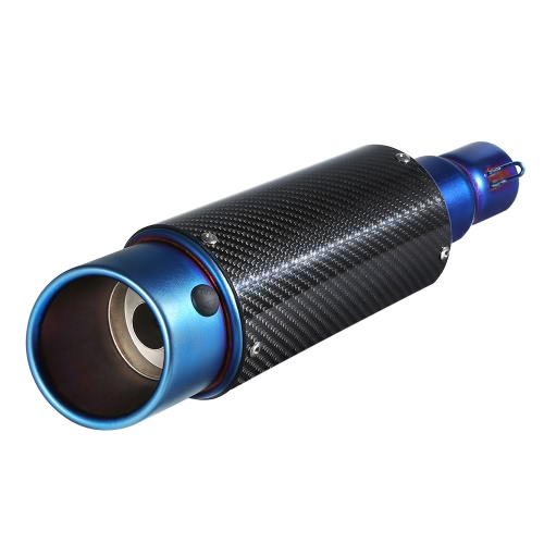 38-51mm Tampa de fibra de carbono Cauda oblíqua Refrescante Silenciador de escape com ajuste para motociclos ATV Universal