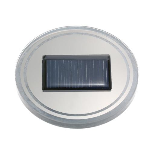2pcs Universal Solar Cup Holder Bottom Pad LED Light Cover Trim Atmosphere Lamp