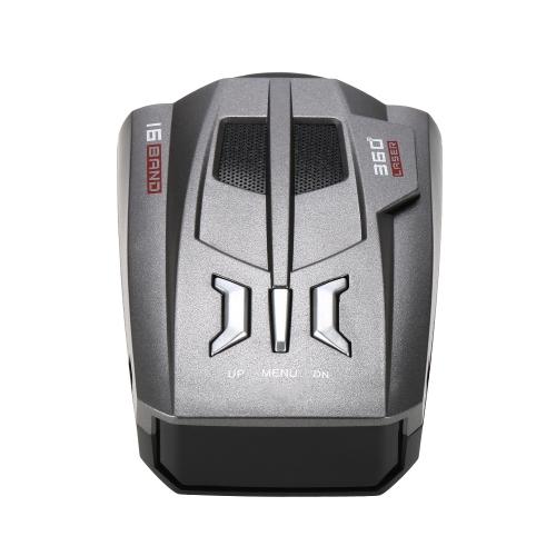 Détecteur de radar de véhicule de la voiture 12V LED Display Speed Control Detector V9 vitesse dispositif d'alerte d'alerte vocale Russie / anglais