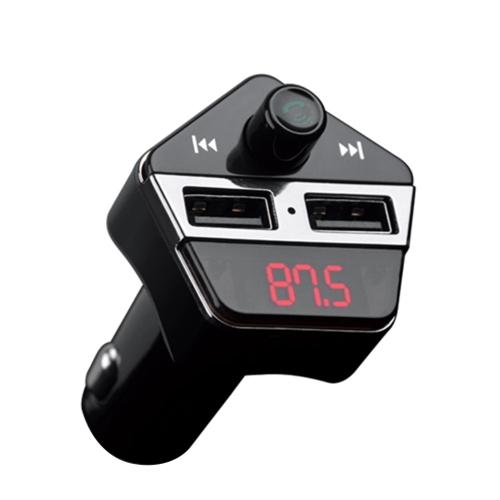 Nadajnik FM 5V 2.4A Odtwarzacz MP3 Bezprzewodowy zestaw głośnomówiący BT Zestaw samochodowy z systemem pozycjonowania GPS