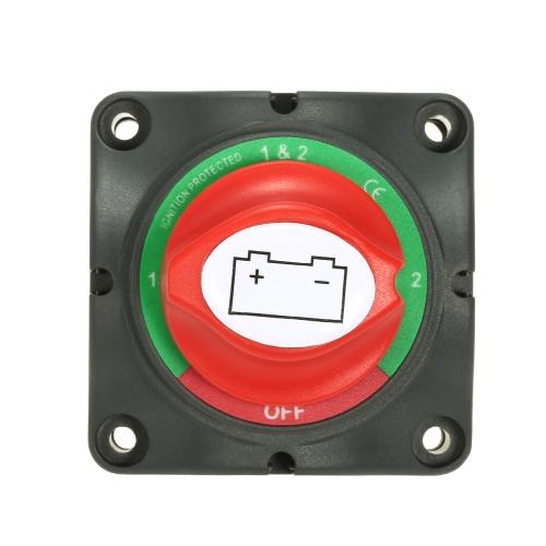 12V/24V Battery Switch Isolator Marine Car RV Boat Switch 4 Position 300 Amp US
