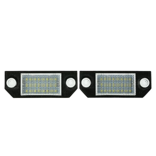KKmoon 2PCS LED License Plate Light Number Plate Lamps For Ford Mondeo MK2 Fiesta MK5 Fusion