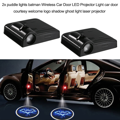 2 pcs Puddle Lights Batman sans fil porte de voiture LED projecteur lumière