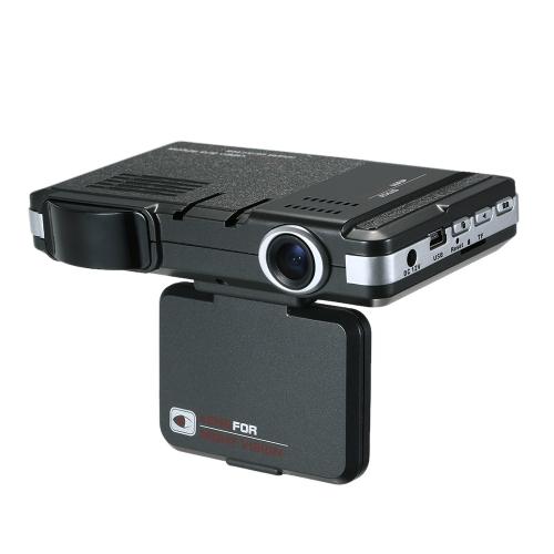 Anti Radar Detector Car DVR 2 in 1 720P Dash Cam Rilevatore di velocità radar con banda piena Pulsante Mute Registrazione loop G-Sensor