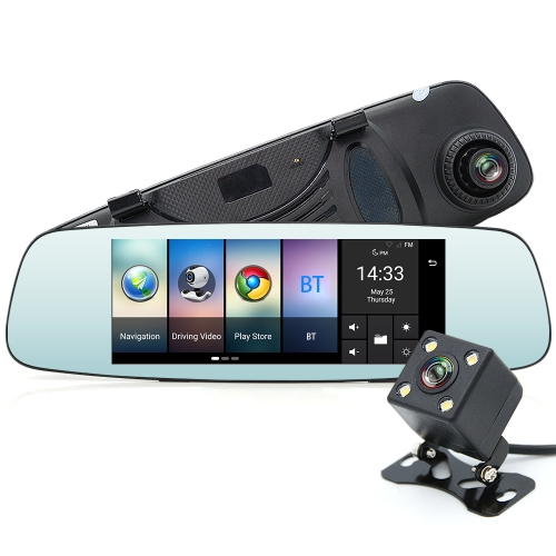 JUNSUN A800 Wielofunkcyjna kamera samochodowa Wifi Rejestrator samochodowy przenośna Auto DVR Dual Len Kamera cofania