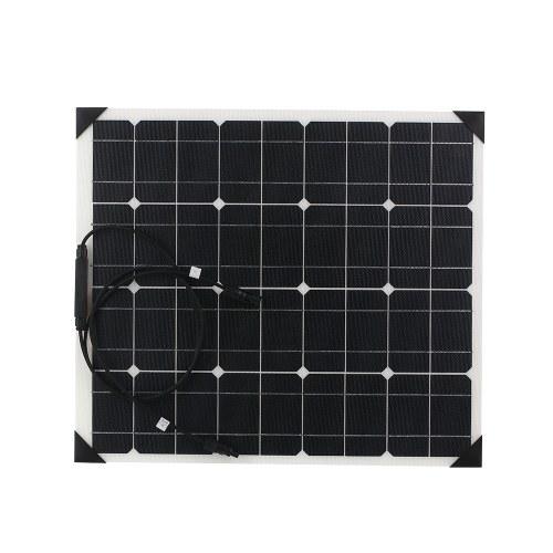 Paneles solares de silicio monocristalino flexible 50W 18V ETFT Superficie de nido de abeja 25% Sistema de panel solar de alta tasa de conversión para RV Homeuse