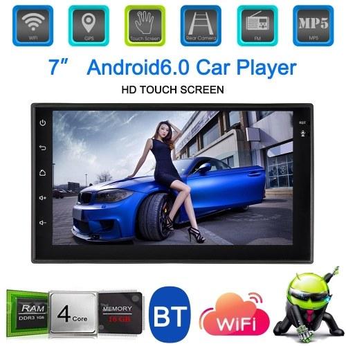 Universal 7'' Smart Android 6.0 2 Din Car Stereo Radio Player GPS Navigation