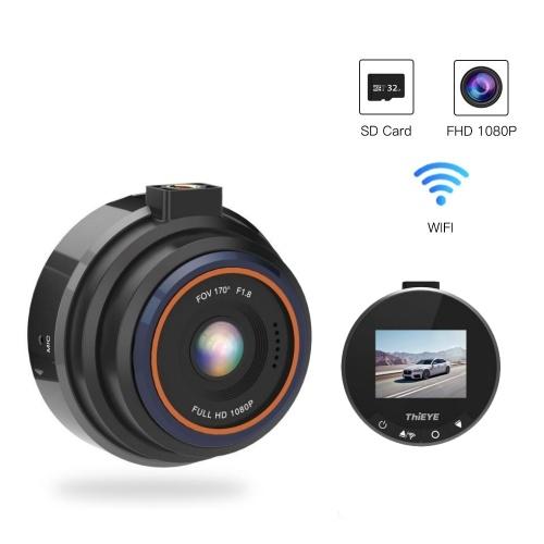 ThiEYE Safeel 1,5-дюймовый экран 170 ° FHD 1080P видеорегистратор автомобильный видеорегистратор камеры (поддержка WiFi) фото