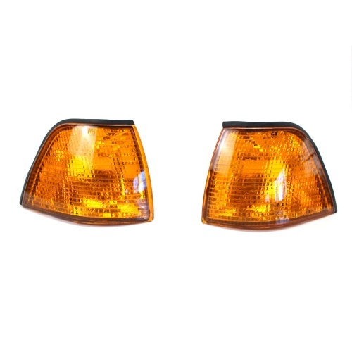 Corner Light Lens Replacement Yellow Amber Indicator Lamp Fit For Side Corner Signal Light Fit For BMW E36 3 Series 1992-1998