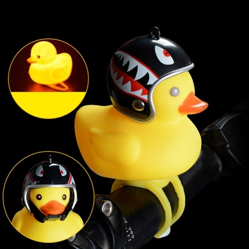 1Pcs Cute Little Yellow Duck with Helmet LED Light for Bike Motorcycle
