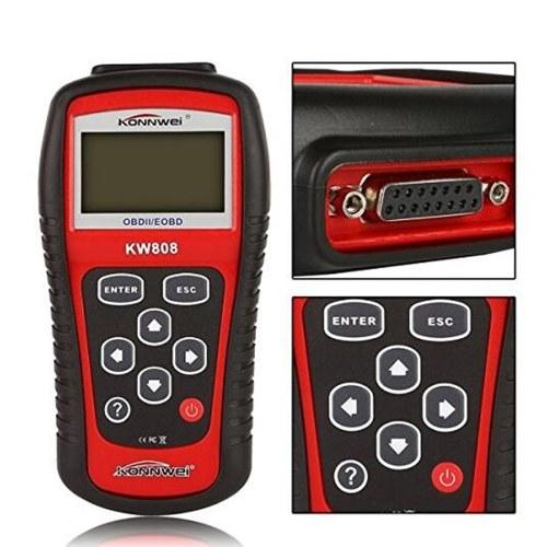 KONNWEI OBDII / EOBD Cars Code Reader y Auto Scanner Detection Decoder KW808