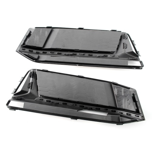 A Pair of Chrome Fog Light Cover Grille Black Trim Grill Bezel Fit For AUDI A4 S4 S-Line B9 2016-19 K12576-1