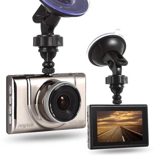 Anytek A100 + Автомобильный видеорегистратор Камера 1080p HD Dash Cam Recorder 170 градусов Объектив WDR Парковка Мониторинг ночного видения