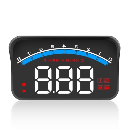 Universal M6S Car HUD Display ODB II GPS Speedometer Tachometer Speed/Water Temperature/Voltage LED Head Up Display Projector Auto Truck SUV RV 3.5
