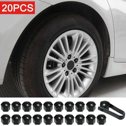 Tapa de tuerca de rueda para Tesla Modelo 3 Cubiertas de tuerca de rueda Tapa Tapa de rueda Tapa de tuerca Kit de extractor de 21 piezas