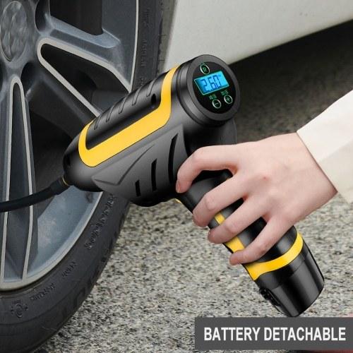 120 Вт Беспроводной Автомобильный Воздушный Компрессор Ручной USB Аккумуляторная Шин Надувное Цифровой Надувной Насос Манометр Автомобильные Аксессуары фото