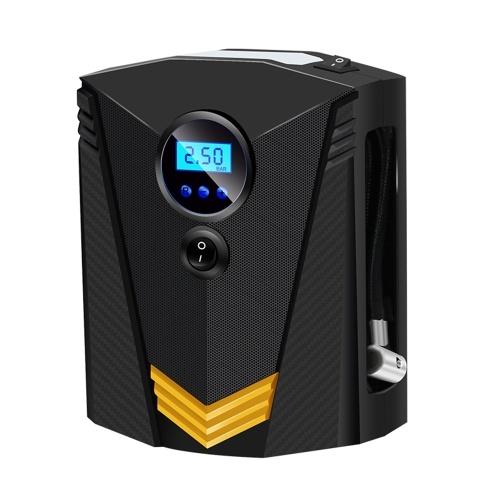 Надувное колесо для автомобиля / Портативный воздушный компрессор / Автомобильный насос для шин / Автоматический насос для шин с манометром - Легко хранить Автоматическое отключение - Аварийное светодиодное освещение